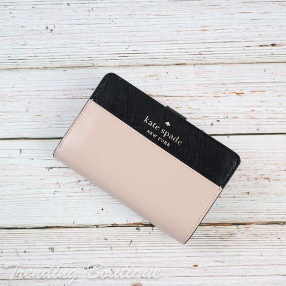 NWT Kate Spade Staci Colorblock Bifold Wallet